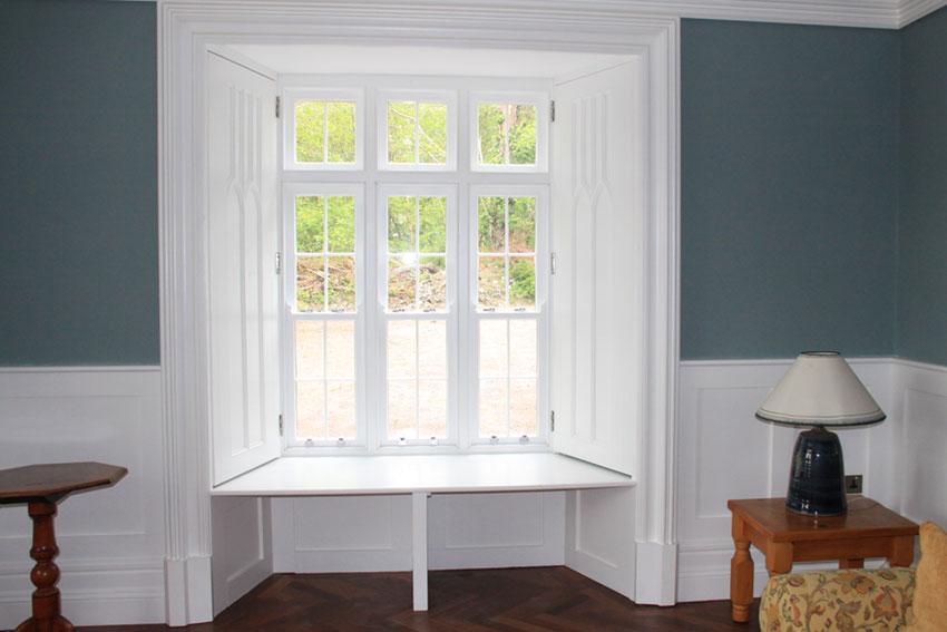 bespoke wooden window shutters