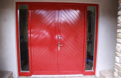 external solid sheet door