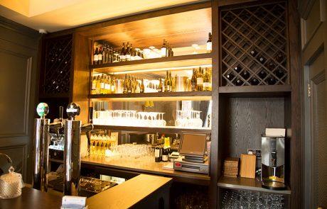 bespoke wooden commercial bar