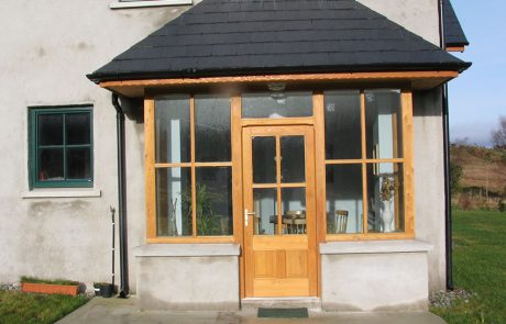 external fan lights & transom windowed door