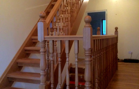full string wooden stairs