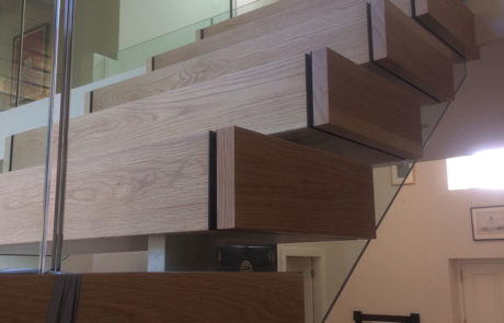 open tread wooden stairs