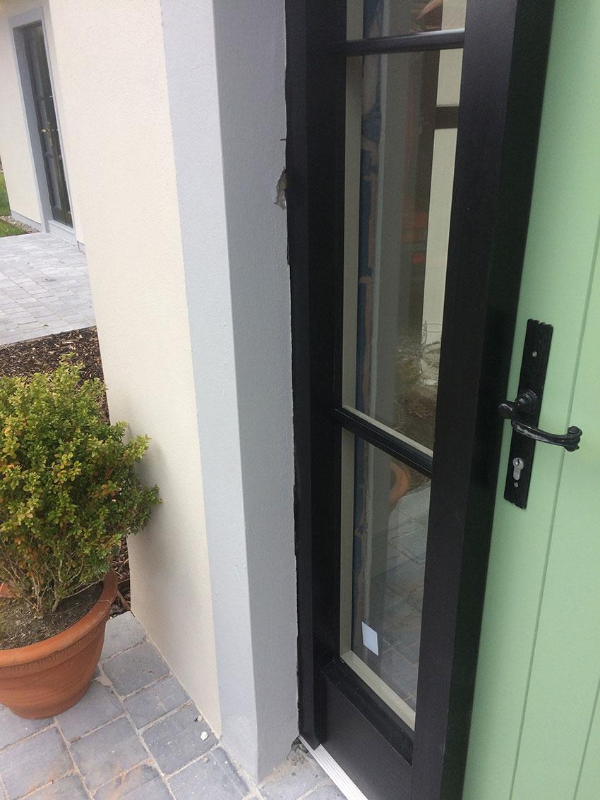 external solid panel door