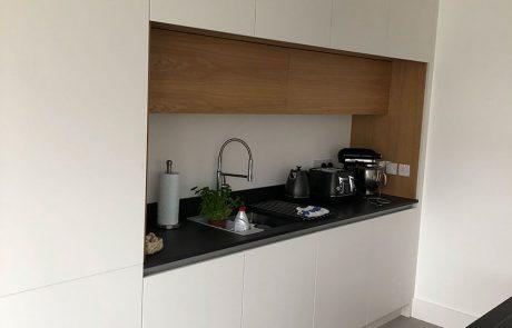 flat finished kitchen