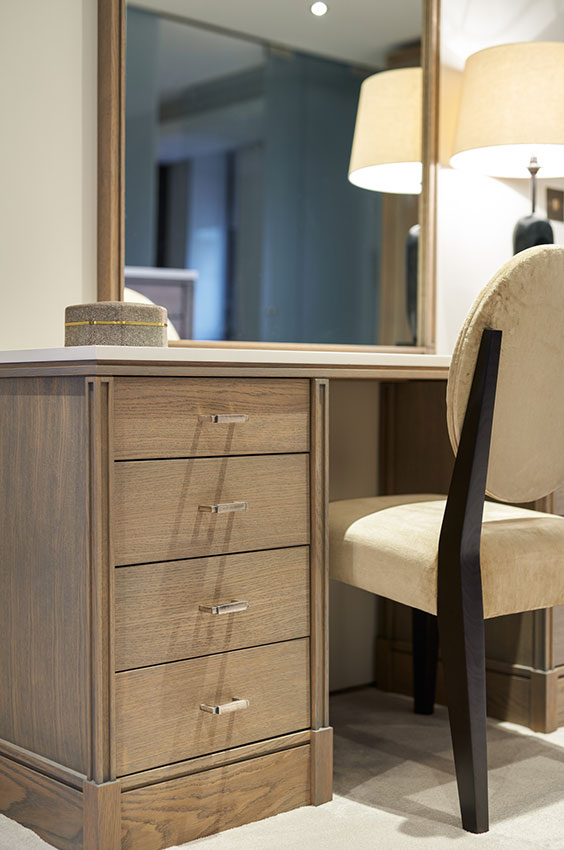 detail of dressing table