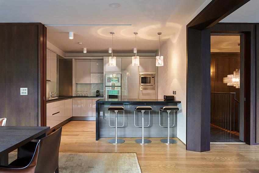 modern kitchen with island unit