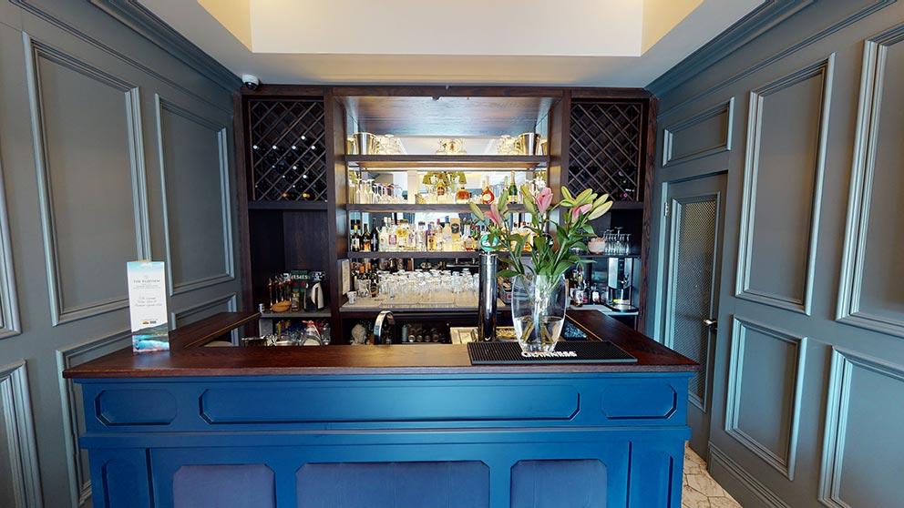 custom wooden hotel bar